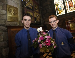 Pic Greg Macvean - 04/10/2016 - The Boys Brigade 133rd Anniversary is marked with a service at St Giles Cathedral - l-r - Matthew Turnbull, Barry Williams