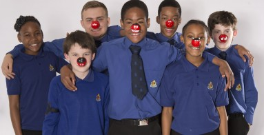 Youth group studio shoot for Red Nose Day 2017
