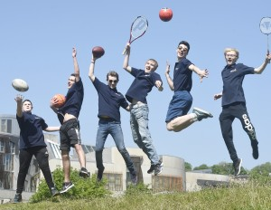 Pic Greg Macvean - 25/05/2017 - 07971 826 457 The Boys' Brigade is challenging politicians from across the political spectrum in Scotland to support its #TeamPlayerScot campaign and work together to recognise the vital role that youth work and specifically youth organisations have in promoting sport and play opportunities for young people - BB's left to right - Aaran Irving (15), Matthew Turnbull (18), Barry Williams (18), Ian Moore (18), Josh McGoldrick (18), Cameron Higgins (17)