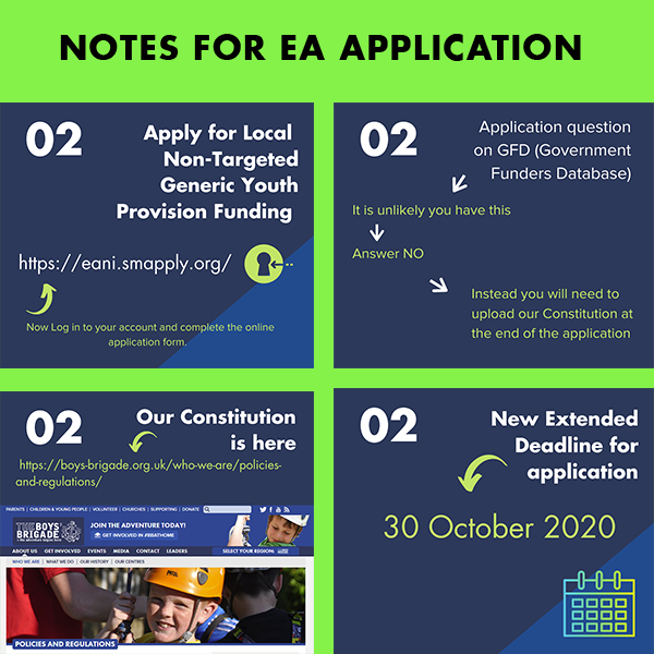 EA notes for applying